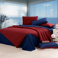 Four piece pure cotton duvet cover sets double color 6*6