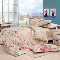 Four Piece Long Staple Cotton Duvet Cover Sets Multicolor 5*6