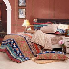 Four Piece Long Staple Cotton  Duvet Cover Sets Multicolor 5*6