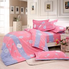 Four Piece Long Staple Cotton Duvet Cover Sets Multicolor 4*6