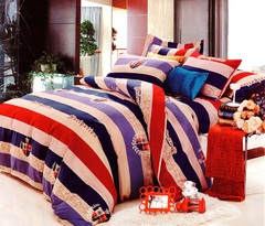 Four piece High quality thick 100%cotton duvet cover sets Multicolor 5*6