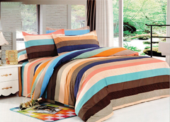 Four piece High quality thick 100%cotton duvet cover sets Multicolor 6*6