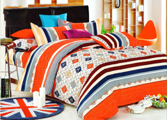 Four piece High quality thick 100%cotton bedding set Multicolor 5*6