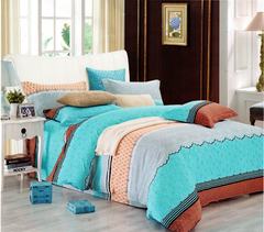 Four piece High quality thick 100% cotton duvet cover sets Multicolor 5*6