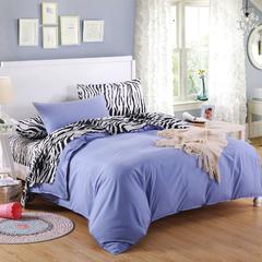 Four Piece High Quality  Zebra Stripped Pure Cotton Duvet Cover Sets Multicolor 4*6