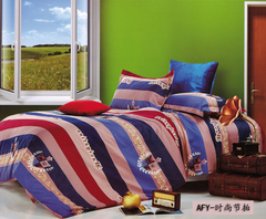 Four piece Long staple cotton duvet cover sets Multicolor Multicolor 4*6