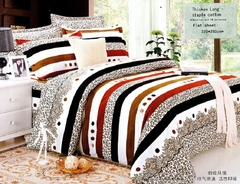 Two piece multicolor pillow case (Thicken long staple cotton) Multicolor 48cm*76cm