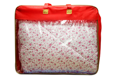 pink duvet with lovely tiny flowers sm567 double color 5*6