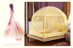 Double Bed Size Mosquito Nets Light Yellow 4*6