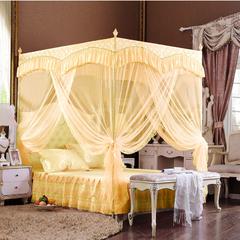 High Quality European Court Style Three Doors Purple Mosquito Nets sm811 Light Yellow 5*6