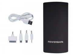 Sleek Portable Palm size Power Bank Black 5600 mAh