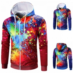 Long Sleeve Hooded Sweater Sweater Space Cotton Casual Men Tops color 1 m