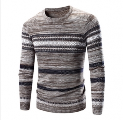 Men 's sweater hit color sweater thicker color 3 m