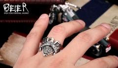 Men's Rings Hooded Eagle silver 8