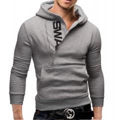 The letter LOGO head side zipper color men's sweater color 5 l
