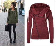 Cufflinks design leisure color hooded sweater women 1 s