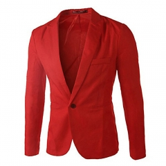 korean Men casual Suit slim Jacket blazer coat man color 6 3XL