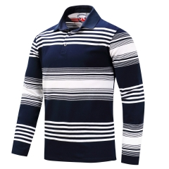 Autumn and winter luxury large size men's long sleeves polo shirt colour 4 m