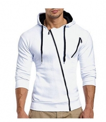 2017 autumn and winter new classic zipper hooded men's casual Slim sweater coat W01 P25 color 2 m