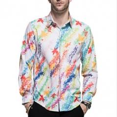 Long Sleeve Business Long Sleeve Shirt Color Digital Print Shirt DC62 P45 color 1582 m