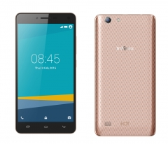 INFINIX Hot 3 LTE - X553 - 5.5 HD, 4G network, 5MP+13MP, 2GB +16GB, Dual SIM,Best Smart Mobile Phone Champagne