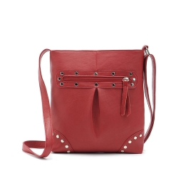 Handbag 5 Colors Rivet Fashion Shoulder Bags red one size