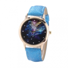 Galaxy Star Sagittarius dial male and female quartz watch 黑色 normal