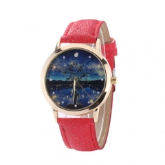 Hetang moonlight sky chart male and female quartz watch 黑色 normal