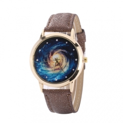 Star galaxy black hole 3d chart quartz watch 黑色 normal