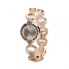 Fashion simple fashion trend watch ladies steel strip quartz watch silver normal