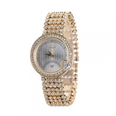 Trends fashion fashion diamond ladies steel strip quartz watch gold