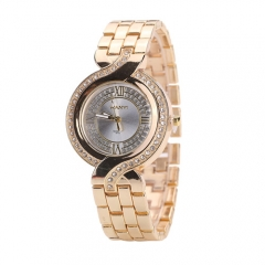 Trendy fashion bracelet fish tail watch female alloy quartz watch gold normal