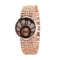 Exquisite ladies small dials quicksand face diamond bracelet bracelet quartz watch silver normal