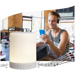 High Quality Bluetooth Speaker With 7 Changing Color Smart Touch Sensor Led Light,Earphone For Free white one size
