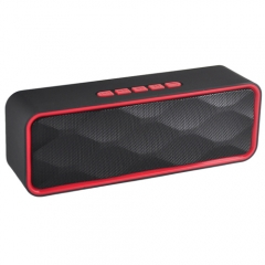 HIFI Stereo Bass Subwoofer Loudspeaker ,Bluetooth Mini Music Player,with Retro Bracelet For Free red one size