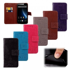 For Doogee Samsung S8 - Luxury Retro Flip Case Pro PU Leather + Soft Silicon Wallet Phone Cover black Doogee X3