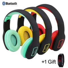 Foldable Bluetooth Headphone Stereo Wireless Headset Headphone red portable