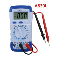 A830L LCD Digital Multimeter-DC AC Voltage Diode Freguency Multitester Volt Tester blue&white universal