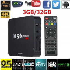 Android TV Box -Amlogic S905 Quad Core KODI16.0 Fully Loaded 4K XBMC black portable