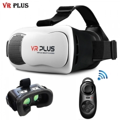 120FOV VR Box 3.0 Virtual Reality VR Plus Cardboard Real Glass Lenses Helmet 3D Glasses + Gamepad