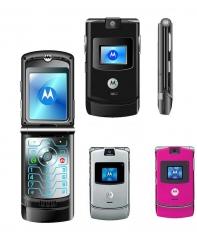 Original Refurbished Motorola V3 mobile cell phone 2G GSM unlocked black