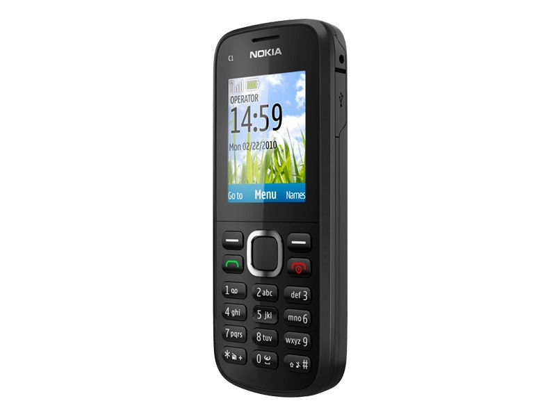 Refurbished phone Nokia C1-02 Mobile Phone Unlocked Grade A Complete Accessories Basic Phone silver 5