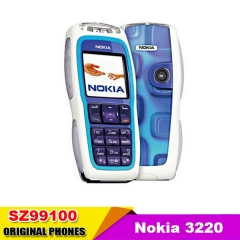 hot Sale cell phone Nokia 3220 Unlocked GSM900/1800/1900 Cheap Mobile Phone blue