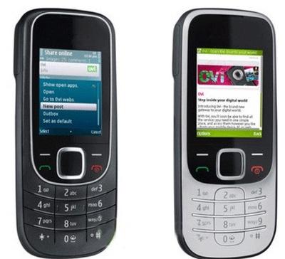 Refurbished nokia 2323 bluetooth JAVA classic durable phone silver black 2