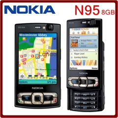 new Original N95 8GB Storage Camera 5MP Unlocked Nokia N95 8GB Mobile phone One year Warranty black