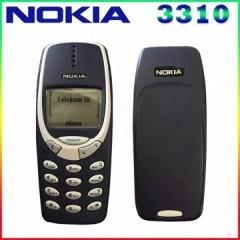 Original Nokia 3310 cheap phone unlocked GSM 900/1800 with multi language 1 year warranty dark blue