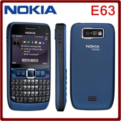 Original unlocked NOKIA E63 cell phones 3G WIFI Bluetooth 2MP CAMERA 1 year warranty black