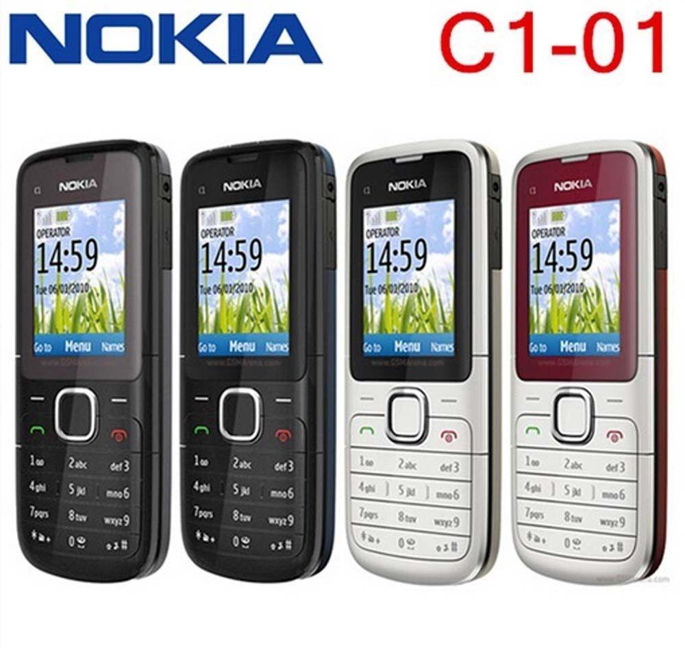 Refurbished nokia C series C1-01 -(unlocked) GSM 900/180 durable phone black 1