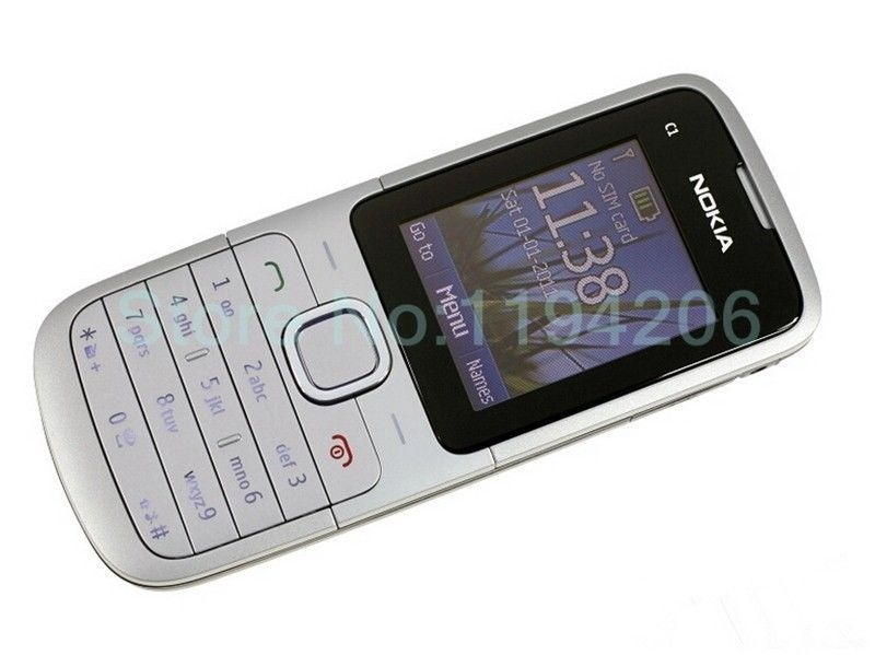 Refurbished nokia C series C1-01 -(unlocked) GSM 900/180 durable phone black 4