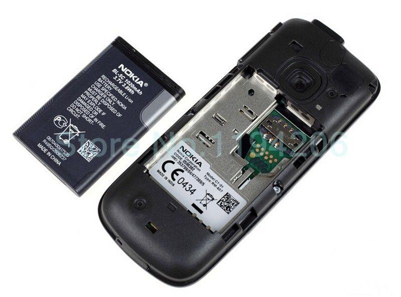 Refurbished nokia C series C1-01 -(unlocked) GSM 900/180 durable phone black 7